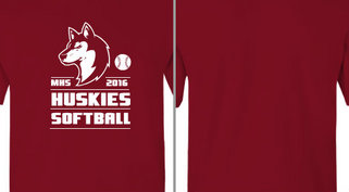 Huskies mascot Softball Design Idea