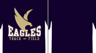 Eagles Mascot Track and Field Design Idea