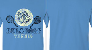 Bulldogs Mascot Tennis Design Idea