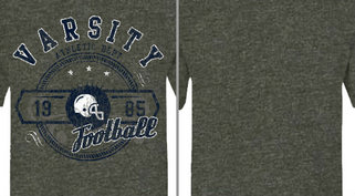 Vintage Athletic Football Design Idea