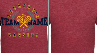 Vintage Athletic Varsity Tennis Design Idea