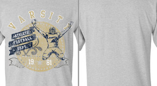 Vintage Athletic Football Player Design Idea
