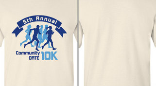 Community 10K Event Runners Design Idea