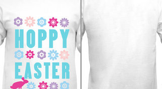 Flowers Hoppy Easter Design Idea