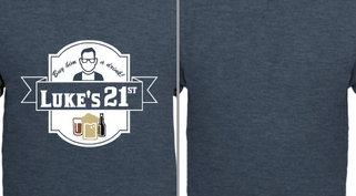 Luke's 21st Birthday Badge Design Idea