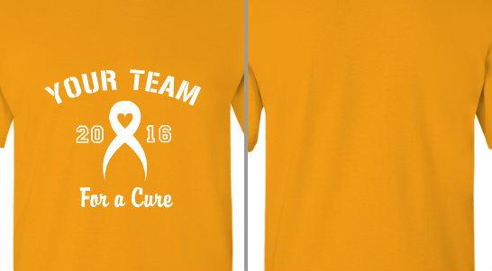Heart Ribbon Your Team For a Cure Design Idea