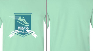 Your City 5K Shoe Ribbon Design Idea