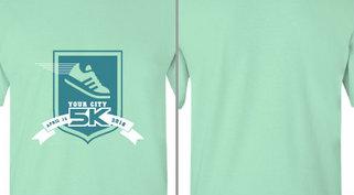 Your City 5K Shoe Ribbon Design Idea
