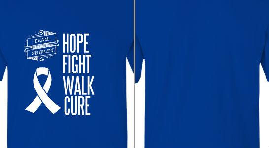 Hope Fight Walk Cure Design Idea