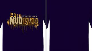 Mud Run Text Splatter Design Idea