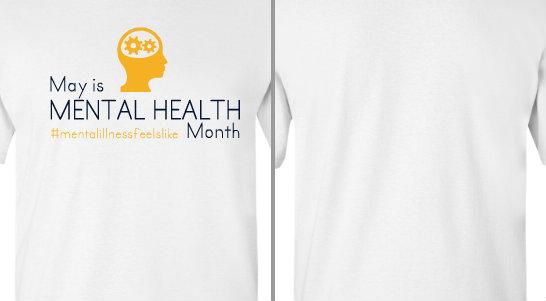 Mental Health month hashtag Design Idea