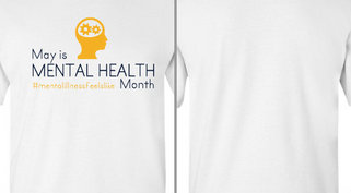 Mental Health month hashtag Design Idea