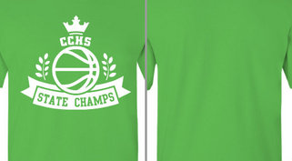 State Champs Basketball Ribbon Design Idea