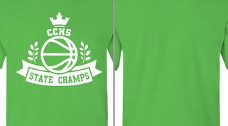 State Champs Basketball Ribbon Design Idea
