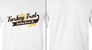 Turkey Trot Text Design idea