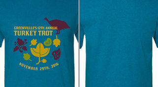 Turkey Trot Leaves Design Idea