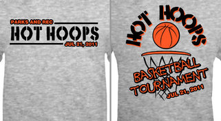 Design Idea Basketball Hot Hoops Tourney