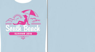 South Beach Vacation Umbrella Design Idea