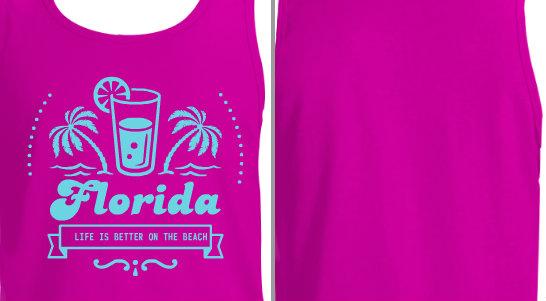 Glass Palm Trees Florida Beach Design Idea