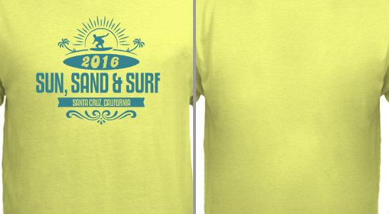 Sun Sand Surf Vacation Design Idea