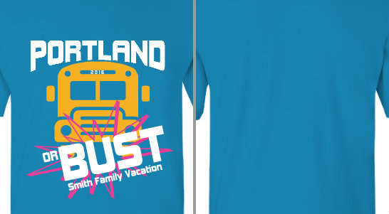 Portland or Bust Vacation Design Idea