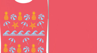 Beach Pineapple Pattern Design Idea