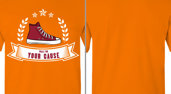Your Cause Walk Shoe Ribbon Design Idea