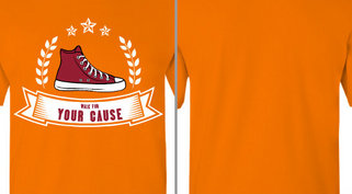 Your Cause Walk Shoe Ribbon Design Idea