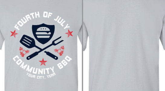 Fourth of July Community BBQ Design Idea
