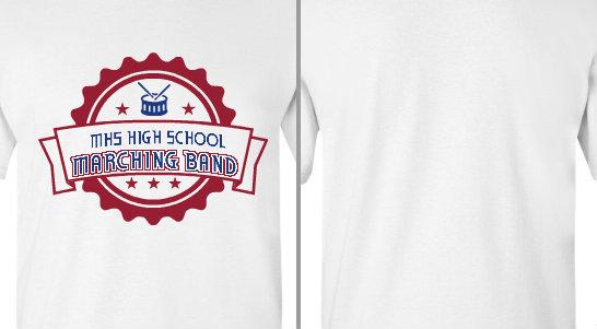 High School Marching Band Seal Design Idea