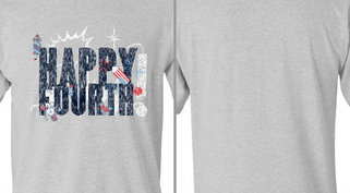 Happy Fourth Fire Works Design Idea