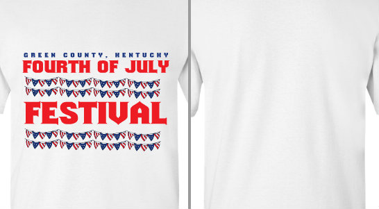 Fourth of July Festival Flags Design Idea