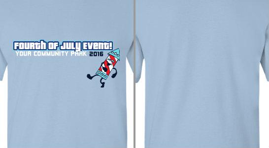 Fourth of July Event Walking Firework Design Idea