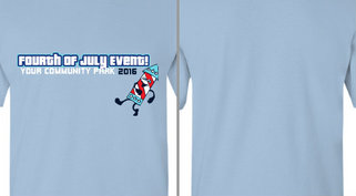 Fourth of July Event Walking Firework Design Idea