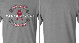 Baker Family Cook Off Grill Ribbons Design Idea