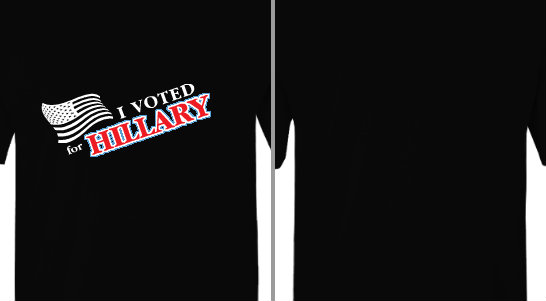I Voted for Hillary Clinton Design Idea