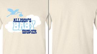 Allison's Baby Shower Stork Design Idea