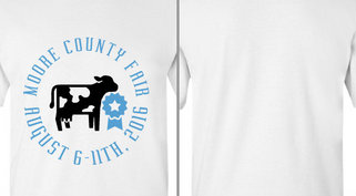 County Fair Cow Blue Ribbon Design Idea