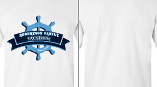 Robertson Family Vacation Ship Wheel Ribbon Design Idea