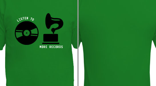 Listen to More Records Design Idea