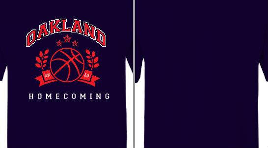 Oakland Homecoming Basketball Design Idea