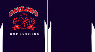 Oakland Homecoming Basketball Design Idea