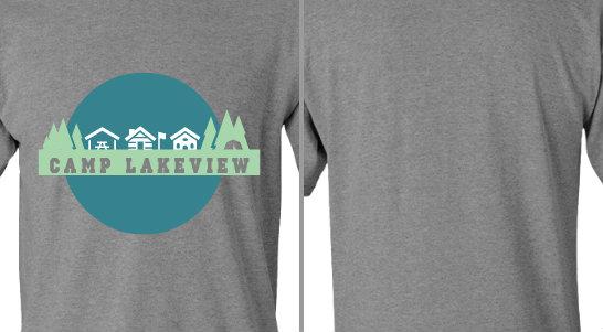 Camp Lakeview Circle Trees Design Idea