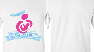August National Breastfeeding Month Mother Baby Design Idea