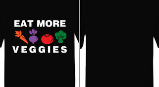 Eat More Veggies Design Idea