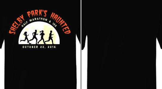 Haunted Half Moon Runner Silhouettes Design Idea