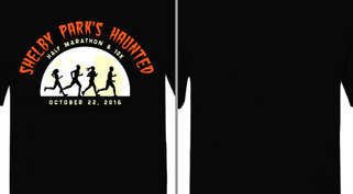 Haunted Half Moon Runner Silhouettes Design Idea