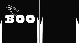 Hey Boo Ghost Design Idea