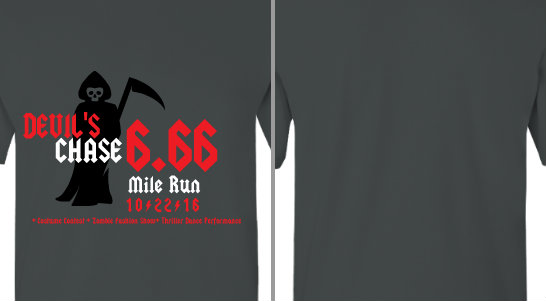 Devil Chase Halloween Run Design Idea