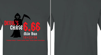 Devil Chase Halloween Run Design Idea